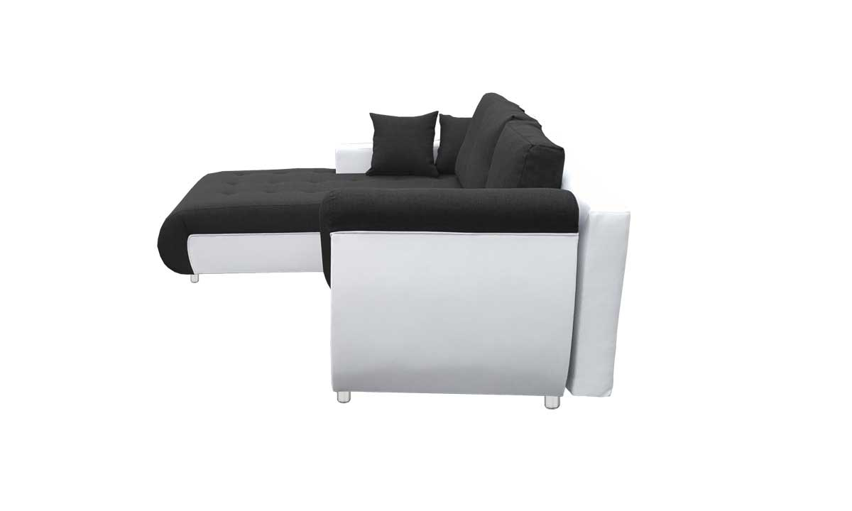 Convertible Four Seater Sofa Bed Black And White With