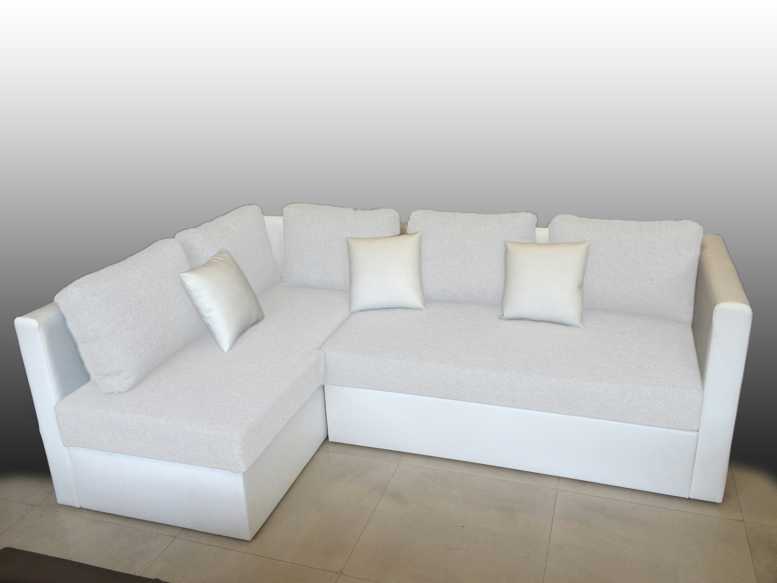 Corner Sofa Bed With Storage Ottoman